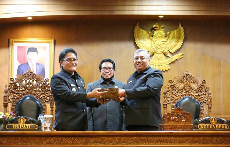 DPRD Badung menggelar Rapat Paripurna dengan agenda penjelasan LKPJ Bupati Badung