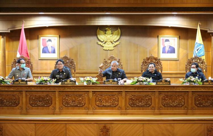 Rapat Paripurna digelar dengan agenda Pemandangan Umum (PU) Fraksi
